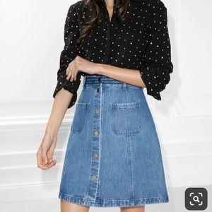 & Other Stories denim skirt